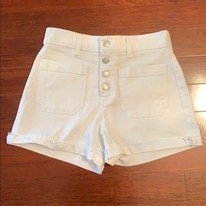 Madewell white denim shorts